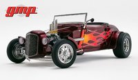 1934 Hot Rod Roadster  Brandywine Metallic with Flames in 1:18 Scale by GMP
