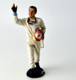 Jack Brabham Figure 1966 waving to fans w/ tiger mascot in 1:18 scale by Minichamps