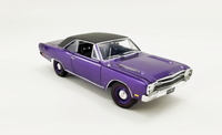 1969 Dodge Dart GTS 440 - Vinyl Top in plum crazy in 1:18 scale by Acme