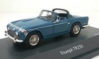 Triumph TR250 Blue in 1:43 Scale by Schuco