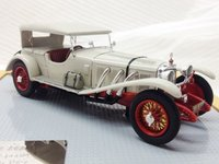 1927 Mercedes-Benz 680S Sport/4 Sindelfingen Close Car, Beige/Red Resin Model Car in 1:43 Scale by Ilario