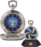Harley-Davidson Custom Chrome Pocket Watch - Cyclone from the Franklin Mint