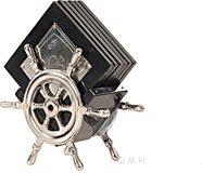 Alum/ Wood Coaster On Ship Wheel by Old Modern Handicrafts