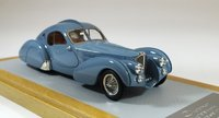 1936 Bugatti 57S Atlantic sn57473 Current Car Resin Model Car in 1:43 Scale by Ilario