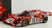 1971 Ferrari 512 M 24h Le Mans in 1:18 Scale by CMR