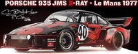 Porsche 935 JMS X-RAY Le Mans 1977 Diecast Model in 1:18 Scale by Norev