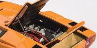 Lamborghini Countach LP400S in Orange Diecast Model Car in 1:18 Scale by AUTOart