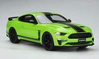 2020 Ford Mustang R-Spec RHD Grabber Lime in 1:18 scale by GT Spirit