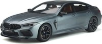2020 BMW M8 Gran Coupe Silver in 1:18 Scale by GT Spirit