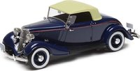 1933 Ford Model 40 Roadster Closed Dark Blue in 1:43 Scale by Esval