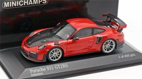 2018 PORSCHE 911 GT2RS in Red Model Car in 1:43 Scale by Minichamps