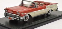 1958 Chevrolet Belair Impala Convertible Red in 1:43 Scale by Neo