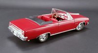 1965 Chevrolet Chevelle Z16 Convertible Removeable Top in Red Model Car by Acme in 1:18 Scale