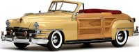1948 Chrysler Town & Country in Yellow Lustre in 1:18 Scale by Sunstar