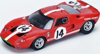 1966 Ford GT40 # 14 Le Mans 1966 P. Sutcliffe - D. Spoerry Model Car by Spark in 1:43 Scale
