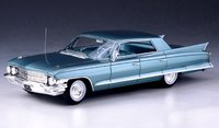 1962 Cadillac Sedan DeVille 4 window Turquoise in 1:43 Scale by GLM