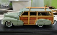 1948 Chevrolet Fleetmaster Woodie Satin Green in 1:43 Scslr by Goldvarg Collection