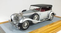 1936 Mercedes-Benz 500K Tourenwagen sn113693 Cabriolet Silver Model Car in 1:43 Scale by Ilario