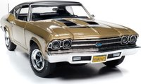 Yenko 1969 Chevrolet Chevelle Diecast Model in Olympic Gold 1:18 Scale by Auto World