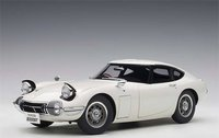 Toyota 2000 GT Coupe in White in 1:18 Scale by AUTOart