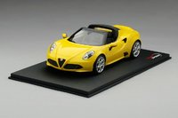ALFA ROMEO 4C Spider Giallo Prototipo Resin Model in 1:18 Scale by Topspeed