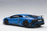2015 Lamborghini Aventador LP750-4 SV, Blue Le Mans in 1:18 Scale by AUTOart