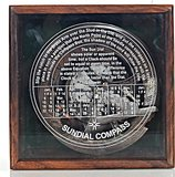 Sundial Compass in wood box (Large) by Old Modern Handicrafts