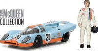 1970 Porsche 917K Gulf Oil w Steve McQueen in 1:43 Scale by Greenlight