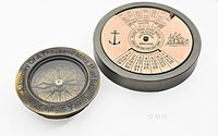 100 Year Calendar & Compass Quote Set of 2 by Old Modern Handicrafts