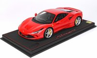 Ferrari F8 Tributo Rosso Corsa 322 Yellow Brakes Limited 48 Pieces in 1:18 scale by BBR