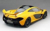 2013 McLaren P1 in Volcano Yellow Resin Model Car in 1:12 Scale by True Scale Miniatures