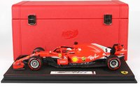 Ferrari SF71-H GP Canada 2018 winner Vettel end of race with collector case in 1:18 scale by BBR