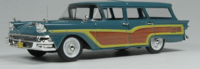 1958 Ford Country Squire Station Wagon Blue in 1:43 scale by Goldvarg