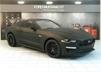 2019 Ford Mustang GT in Matte Black by Diecast Masters in 1:18 Scale