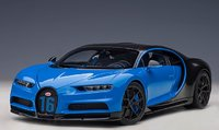 BUGATTI CHIRON SPORT 2019 (FRENCH RACING BLUE/CARBON) in 1:18 scale by AUTOart