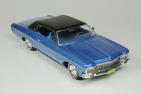 1970 Chevrolet Impala Custom Coupe coupe Mulsanne Blue in 1:43 scale by Goldvarg Collection