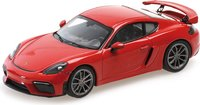 Porsche 718 Cayman GT4 982 2020 Indischrot in 1:43 scale by Minichamps