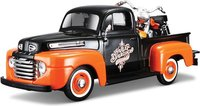 1948 Ford Pickup w Harley Motorcycle in 1:24 scale by Maisto