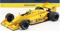 Ayrton Senna Lotus 99T #12 Winner Monaco Grand Prix Formula 1 1987 1:18 Minichamps