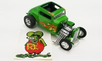 1932 Ford Hot Rod - Rat Fink Diecast Model by Acme in 1:18 Scale