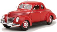 1939 Ford DeLuxe Coupe in 1:18 Scale Diecast Replica Model by Maisto