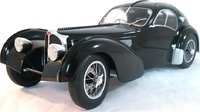1938 Bugatti Type 57 SC Atlantic in Black diecast by Solido in 1:18 Scale