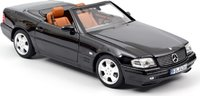 MERCEDES-BENZ SL 500 1999 Black in 1:18 scale by Norev