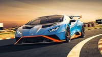 Lamborghini Huracan STO Blue Laufey in 1:18 Scale by MR Collection