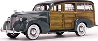 1939 Chevrolet Woody Surf Wagon Granville Grey in 1:18 Scale by Sunstar