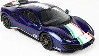 Ferrari 488 Ferrari Blue Tour De France Drivers Track in 1:18 scale by BBR