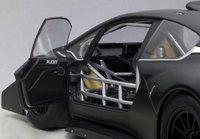 2013 Peugeot 208 T16 Pikes Peak Race Car Plain Color Version Black Model Car in 1:18 Scale by AUTOart