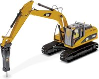Cat® 320D L Hydraulic Excavator with Hammer in 1:50 scale by Diecast Masters