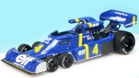 1976 Tyrrell P34 #4 Test Car Spainish GP Elf Team Tyrrell, P. Depailler Model Car in 1:43 Scale by Truescale Miniatures