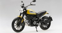 2015 Ducati Scrambler Classic 803cc Orange Sunshine in 1:12 Scale by Truescale Miniatures